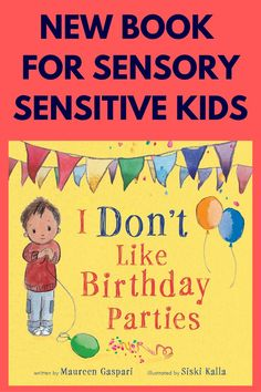 Click to order this new children's picture book perfect for those children with sensory difficulties and challenges. The main character of the book is a highly sensitive child who has difficulty with loud noise, crowds, pictures, and attention at a birthday party. He tries his best, but he is not having fun. Struggles at birthday parties are common with highly sensitive children and those with sensory processing disorder, autism, etc. Click to read more about the book. Best Children Books, Childrens Books, Highly Sensitive Person Traits, Therapy Activities, Therapy Ideas, Pediatric Physical Therapy, Autism Resources, Fiction And Nonfiction, Adhd Kids