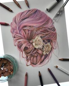 WANT A FREE FEATURE ?   CLICK LINK IN MY PROFILE !!!    Tag  #LADYTEREZIE   Repost from @drawingsbyjosh   My pink hair drawing! Reference from @hairandmakeupbysteph  I really enjoyed working on this piece and I was really happy with the result considering it's my first hair drawing! What do you think? I'm not sure how long this took I timed it at the start but forgot to halfway through and gave up on it  I'm taking a break from portraits at the minute because I feel like you guys were…