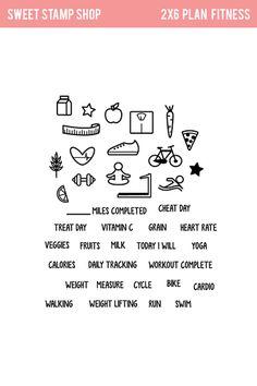 Sweet Stamp Shop - Plan Fitness ($7.95)