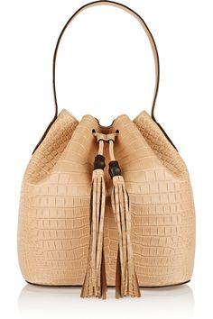 2b81068fe3d Gucci - Lady Tassel crocodile bucket bag