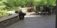 Stamped Concrete, Concrete Patio Recently Added J&S Landscape Longmont, CO