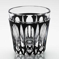 Edo Kiriko Cut Black Japanese Glass