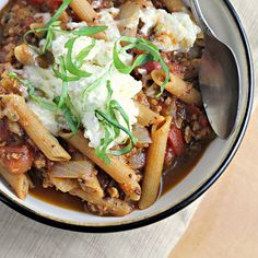 Lasagna Soup by eatswellwithothers as adapted from Closet Cooking: A warm hug! #Soup #Lasagna