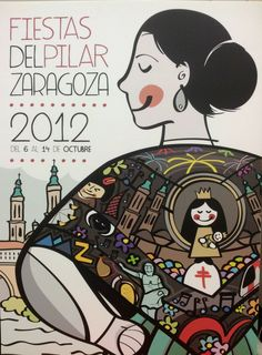 Cartel Pilar 2012. Fiestas Bordadas de Víctor Meneses