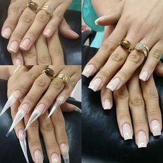 → Como esticar as unhas de fibra de vidro - Profissional - Unhas - Gel Uv Nails, Rose Nails, My Nails, Colour Tip Nails, Nail Polish Colors, Fiberglass Nails, Different Color Nails, Nail Designer, Formal Nails