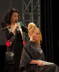 Training for hairstylists by Londa Professional Romania: Creating HOT NEW hairstyles & looks! #londahappymoments #hair #hairstylist #event #show #blond #updo