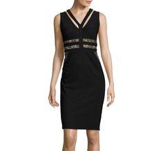 Bisou Bisou® Sleeveless Lace-Waist Bodycon Dress