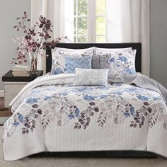For Summer...Madison Park Raven 6-Piece Quilted Coverlet Set