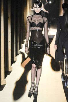 Thierry Mugler Fall 2011  Inspiration for a Possible Idea: Edgy, black, modern