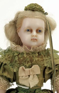 653: All Original English Poured Wax Doll with Inset Ha : Lot 653