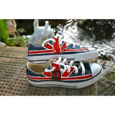 Painted Converse One Direction Shoes Youth Size 2 Union Jack ($68) ❤ liked on Polyvore