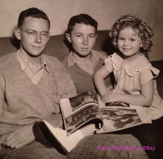 A Rare Fox Studio Photo of Shirley Temple at home with her brothers, circa 1935.