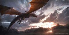 Aegon and Balerion - by Jordi Gonzalez Escamilla.