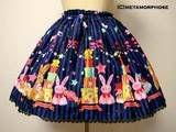 Metamorphose CL/Candy Star Rabbit Print Mini Skirt photo 193930050079.jpg