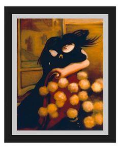 Woman in Black-Female, Oil Painting, fine art, portrait, figure painting, print, drawing, female, decor, home, office, art, artwork by DouglasKnabStudios on Etsy
