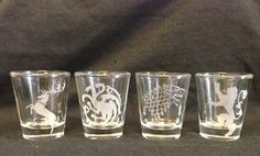 Game of Thrones House Shot glasses on the redditgifts Marketplace #redditgifts