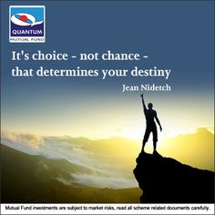 Your destiny is not up to fate, or chance. It's the decisions and choices you make that determine your own #Destiny. #QuoteofTheDay #JeanNidetch