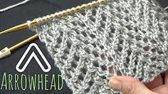 knitting stitch easy lace patterns - YouTube