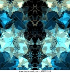 Geometric abstract modern triangles background - stock photo