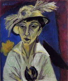 Portrait of Erna Schilling, 1913, Ernst Kirchner
