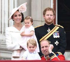 """Duchess Kate, Princess Charlotte, Prince George, <a href=""""http://www.wonderwall.com/movies/Prince-William-482.celebrity"""">Prince William</a> and <a href=""""http://www.wonderwall.com/movies/Prince-Harry-481.celebrity"""">Prince Harry</a> attended the Trooping the Colour for Queen Elizabeth's 90th birthday at Buckingham Palace in London on June 11, 2016."""