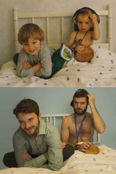 Check Out These Two Brothers As They Recreate Photos From Their Childhood