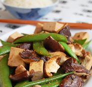 Tofu & Vegetable Stir-fry: Shitake & Tofu Stir-fry