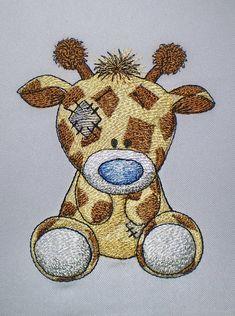 Жираф Веснушка - дизайн машинной вышивки для детей из серии Старая игрушка    Дизайн выполнен Оксаной Вушкан (Oksana Vushkan), прекрасно