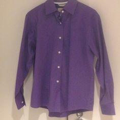Talbots purple button-down blouse Talbots purple button-down blouse. Very faint dotted pattern. Pre-worn in good condition. 100% Cotton Talbots Tops Button Down Shirts