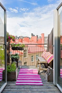 Brighten your #UrbanBalcony with a pop of colour.
