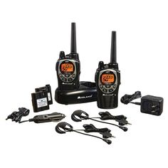 {:en}Midland - 50 Channel GMRS Two-Way Radio - Up to 36 Mile Range Walkie Talkie, 142 Privacy Codes, Waterproof, Gift Emerald devices for competitors or party management and guard{:} Grid Tool, Weather Alerts, Perfume, Two Way Radio, Severe Weather, Walkie Talkie, Consumer Electronics, Black Silver, Journals