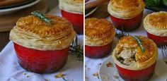 Creamy chicken and mushroom pot pies