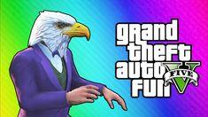 GTA 5 Online Funny Moments - Air Walk Glitch, Faggio Cop Glitch, Beer Ha...