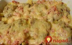 Veľmi jednoduché a chutné jedlo. Pripravené rýchlo a veľmi prakticky, na jednom plechu. Meat Recipes, Cooking Recipes, Green Eggs And Ham, Hungarian Recipes, Pasta Dishes, Food For Thought, Fine Dining, Potato Salad, Healthy Living