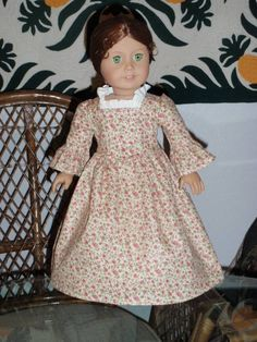 1770s Colonial Rose Garden Dress Gown by alohagirldollclothes, $24.50