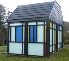 Mondrian inspired shed. Britain's most incredible sheds - Life - Stylist Magazine
