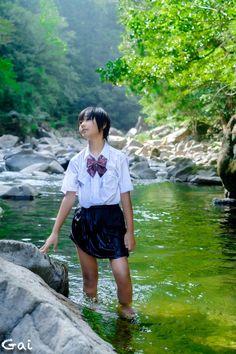 Girl In Water, Tomboy, Idol, Asian, Cute, Pretty Asian, Kawaii, Tomboy Outfits