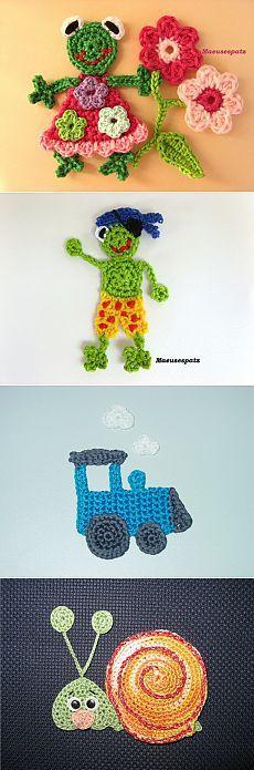 Вязание для детей. Идеи аппликаций