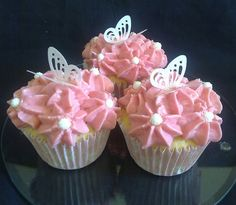 Pretty #Lace #Butterfly #Cupcake idea - We love and had to share! Great #CakeDecorating!