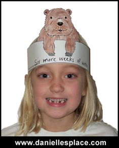 Groundhog Day Hat Craft for Kids:  FREE printables: www.daniellesplace.com
