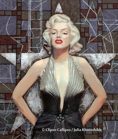"""""""Marilyn Monroe, Old Hollywood, celebrity art, brown shades"""" Canvas Prints by clipsocallipso 