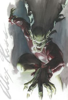"Etrigan The Demon by Alex Ross.  ""Gone! Gone! -- the form of man -- Rise, the Demon Etrigan!"""