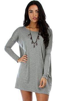2LUV Women's Oversized Long Sleeve Tunic Dress Grey S/M(D1804) 2LUV http://www.amazon.com/dp/B00IISLC3A/ref=cm_sw_r_pi_dp_idJdvb0MR4QVK