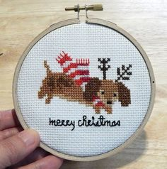 Dachshund A Long and Short Christmas Collection Cross Stitch PDF Chart