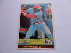 David Green Donruss 1984 Baseball Card.