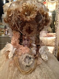 OOAK Upcycled Vintage Chandelier Embellished Dress Form .Display in your Boutique,Art Studio,Boudiour,Bridal Shower...Sorry Not Wearable... Custom Orders Accepted.