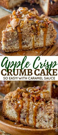 Apple Crisp Crumb Cake is the perfect mix of the classic New York Crumb Cake with large chunks of buttery crumb topping and the ultimate apple crisp.