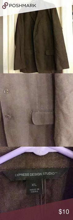 Express Design Studio mens suit jacket size Xl Mens brown suit jacket size Xl Express Design Studio Suits & Blazers Sport Coats & Blazers