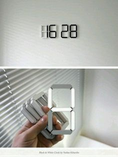 Stick anywhere digital clock                                                                                                                                                      More #MinimalistBedroom