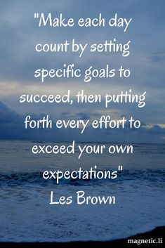 Goals •~• Les Brown
